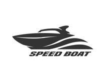 Barco da velocidade, logotipo monocromático ilustração stock