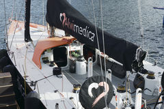 Barco de ALVIMEDICA em Cape Town Abu Dhabi Ocean Racing Imagem de Stock Royalty Free