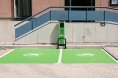 Barco de Avila, Spain. August 26, 2021: Recharging point for electric vehicles.