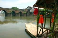 Barco de bambu imagem de stock