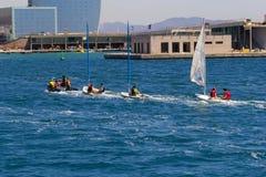 Barco de Barcelona do esporte fotos de stock