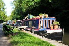 Barco de canal Fotografia de Stock