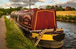 Barco de canal amarrado - centro de Inglaterra Fotografia de Stock Royalty Free