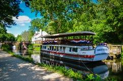 Barco de canal Charles Mercer - canal de C&O fotografia de stock royalty free