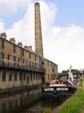 Barco de canal en la celebración de 200 años del canal de Leeds Liverpool en Burnley Lancashire Foto de archivo libre de regalías