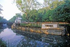 Barco de canal, Great Falls, Maryland Imagen de archivo libre de regalías