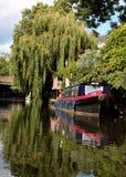Barco de canal no rio Foto de Stock