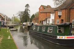 Barco de canal verde Imagens de Stock Royalty Free