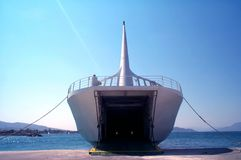 Barco de carga Fotografía de archivo libre de regalías