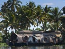 Barco de casa em Kerala Foto de Stock Royalty Free