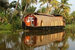 Barco de casa en la Kerala (la India) Imagenes de archivo