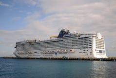 Barco de cruceros épico noruego que visita México Fotos de archivo