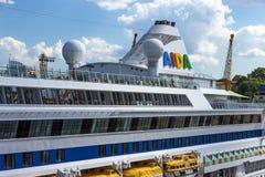 Barco de cruceros Aida Aura Fotografía de archivo