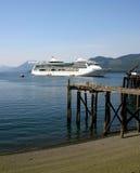 Barco de cruceros, Alaska Fotografía de archivo
