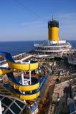 Barco de cruceros Costa Magica de la cubierta Imágenes de archivo libres de regalías