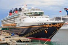 Barco de cruceros de Disney Imagen de archivo libre de regalías