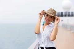 Barco de cruceros de la mujer Foto de archivo