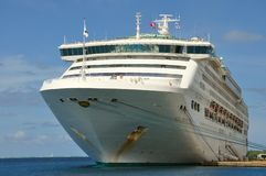 Barco de cruceros de la princesa del mar Imágenes de archivo libres de regalías