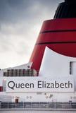 Barco de cruceros de la reina Elizabeth Fotos de archivo