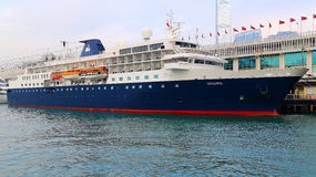 Barco de cruceros de lujo Foto de archivo libre de regalías
