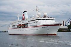 Barco de cruceros de lujo alemán Traumschiff Foto de archivo libre de regalías