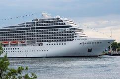 Barco de cruceros de lujo americano MSC Poesia Imágenes de archivo libres de regalías