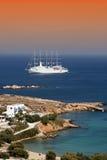 Barco de cruceros de Paros foto de archivo libre de regalías