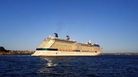 Barco de cruceros de ultramar Foto de archivo libre de regalías