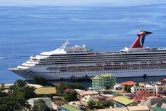 Barco de cruceros del Caribe Foto de archivo libre de regalías