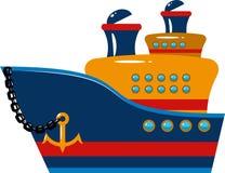 Barco de cruceros del pasajero stock de ilustración