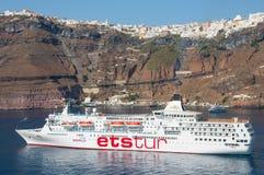 Barco de cruceros del viaje del Ets Imagen de archivo