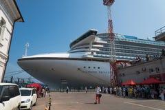 Barco de cruceros Diamond Princess Imágenes de archivo libres de regalías