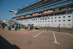 Barco de cruceros Diamond Princess Imagenes de archivo