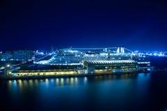 Barco de cruceros en el puerto de San Juan Fotos de archivo libres de regalías