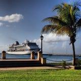 Barco de cruceros en Fredericksted Imagen de archivo libre de regalías