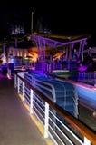 Barco de cruceros en la noche Imagenes de archivo