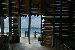 Barco de cruceros en las Bahamas Imagen de archivo