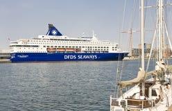 Barco de cruceros escandinavo Foto de archivo libre de regalías