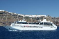 Barco de cruceros mediterráneo Imágenes de archivo libres de regalías