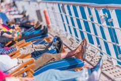 Barco de cruceros Sunny Day Fotos de archivo libres de regalías
