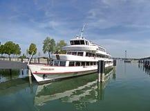 Barco de cruceros - Vorlarberg en el puerto Bregenz Imagenes de archivo