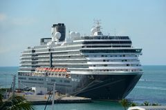 Barco de cruceros Zuiderdam en Key West Fotografía de archivo libre de regalías
