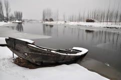 Barco de DianBian del invierno Imágenes de archivo libres de regalías