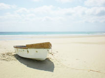 Barco de enfileiramento abandonado Fotos de Stock Royalty Free