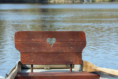 Barco de fila Imagen de archivo libre de regalías