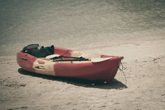 Barco de fila de madera Imagenes de archivo