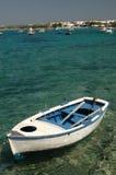 Barco de fila en puerto Fotografía de archivo libre de regalías