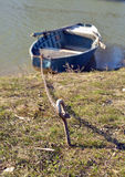 Barco de Fisher en orilla Foto de archivo