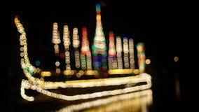 Barco de iluminação do borrão imagem de stock royalty free