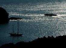 Barco de la amarradura Fotografía de archivo